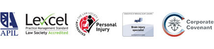 APIL, Lexcel, Personal Injury - The Law Society Accredited, APIL Brain Injury Specialist, Corporate Covenant